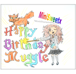 Handmade Happy Birthday muggle card with Hermione by MiniSweetx