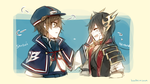 Toukiden: Shusui and Heroine by batensan