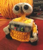 Pixar Disney Wall-e Amigurumi Crochet Doll Plush 1 by Spudsstitches
