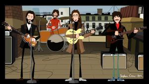 The Beatles Rooftop Concert by Cranimation