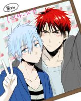[Kuroko x Kagami]\Colored and modified by me. by XxUtauHikaruxX