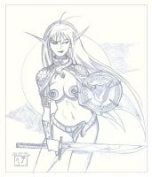 Queen's Blade - Echidna by MichaelCrichlow
