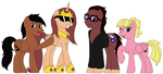 The Cool Ponies by fluttershysone