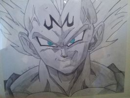 Vegeta Dragon Ball - Drawing by MajinArtist
