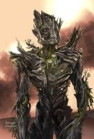 Groot Concept art for Guardians of the Galaxy by Ubermonster
