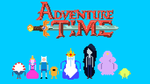 Adventure Time 8bit Wallpaper by supajackle