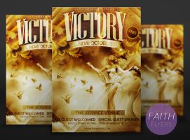 Victory Church Flyer Template by ImperialFlyers