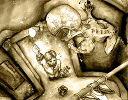 Courage and the Closet Sepia Variant by PrehistoricRobot