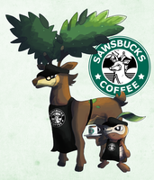 Sawsbucks Coffee by Dragonith