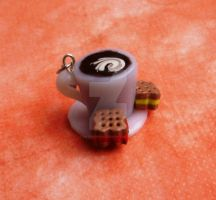 Custom Coffee Cup Charm by katraina1812