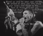 Andys Quote Number One by xbvbxlovex