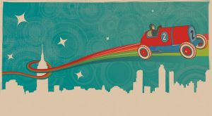 Vintage toy- flying car by canonto