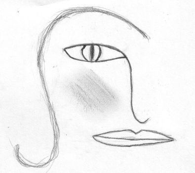 stylised face by goffgrrl