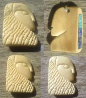 Mammoth Ivory pendant by indigartistic