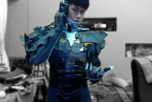 Metal Gear Rising Raiden Upper Torso Armor Test by keruuu