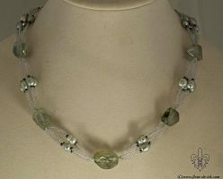 Frosted pond necklace N1268 by Fleur-de-Irk
