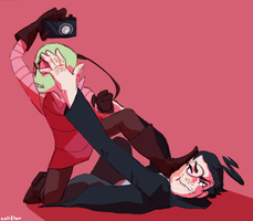 camera fight by whalewithay