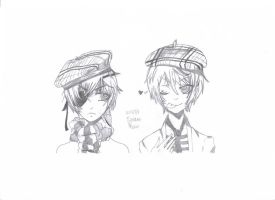 Ciel and Alois {Sketch} by vivian123123
