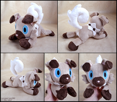 Rockruff Plush (Ver 2) by lazyperson202