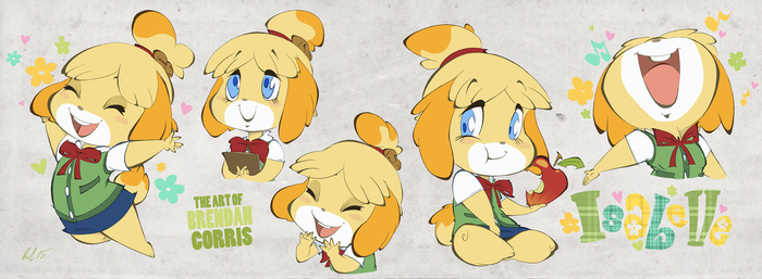 Isabelle Sheet by BrendanCorris