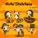 Cute Skeletons by KrisPS