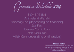 Convention Schedule 2014 by Fatecaster