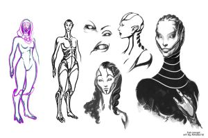My sketches of Tali by Amales