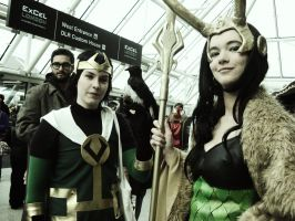 Loki cosplayers (London Expo) by kathXD123
