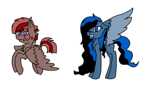 Two Pegasus Adoptables  (CLOSED) by AMiraPone