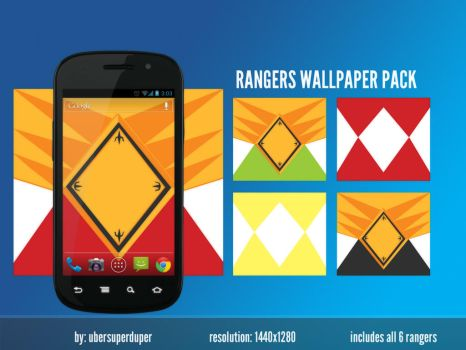 Power Rangers Android Wallpaper Pack by noisecollapse