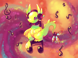 Song Dragon by crayon-chewer