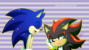Shadow And Sonic by Myly14