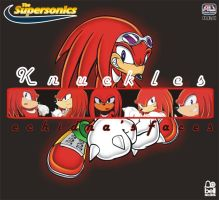 Knuckles - Echidna's Faces F by abonomini