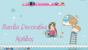 Skin Xwidget Barrita Decorativa cortinita Azul by leyfzalley