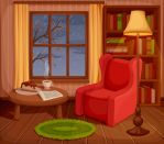 Autumn room interior by Naddiya