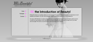 BE: Beautiful - Website by madeofglass13
