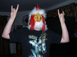 MEH in chicken mask by Smori