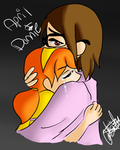 April and Human Donnie. by Animeturtlecakes98
