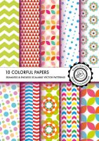 Colorful seamless vector patterns by Divenadesign