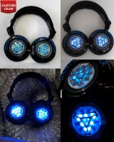 Iron Man 2 Ark Reactor RP-DH1200 DJ Headphones by DJ-JFunk