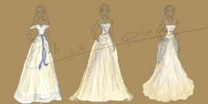 Wedding Dress for sis by Chixiepixie