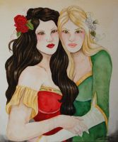 Snow White, Rose Red by amethystpurple1805