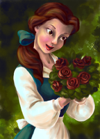 Coloring Book Princess - Belle by trekkiemage