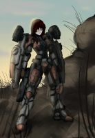 Heavy Mech girl by RailgunTogepi