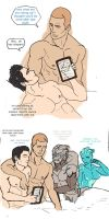 Kaidan and Shepard MissionReports (Comic) by asenla