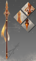 (CUSTOM) - Eldrvaryafeon Spear for Cinderfeng by Timothy-Henri