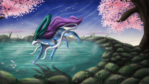 Suicune v2 by Cinnamon-Quails