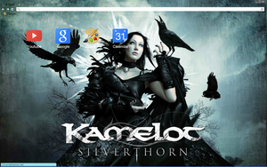 Kamelot Silverthorn Album Cover Theme by bandchromethemes