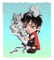 Entreri with mice by SiberianCat