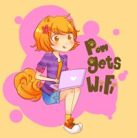 Pom gets WiFi! by Tomato-salad